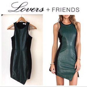 Green Croc Leather Dress